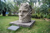 The head of the statue, in the center of Shenzhen Park, China — Stock Photo