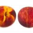 Two peaches isolated — Stock Photo