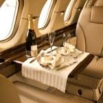 Private airplane interior — Stock Photo
