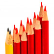 Stock Photo: A bunch of pencil isolated on white