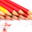 A bunch of pencil isolated on white — Stock Photo