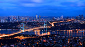 Bhosphorus bridge istanbul Turkey — Stock Photo