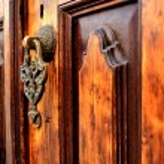 Постер, плакат: Brass gate with door knocker istanbul Turkey