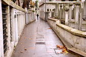 Istanbul - Eyup Sultan mosque, Muslim cemetery, Turkey — Stock Photo