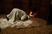 Praying in a mystical dervish — Stock Photo