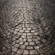 Stock Photo: Light is reflected back cobblestone