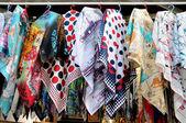 Muslim women's hijab seller — Stock Photo