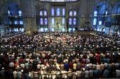 Musulmana turquía de mezquita de oración, azul viernes — Foto de Stock