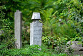 Islamic old tombstone in the countryside — Stock Photo