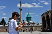 Mevlana museum mosque in Konya, Turkey — Stockfoto