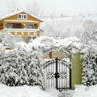 Winter holiday house in Sakarya, Turkey — Stock Photo