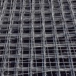 Stock Photo: Deformed reinforcing steel bars