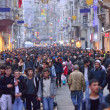 Of the places most visited by tourists, Istiklal Street, the clo — Stock Photo