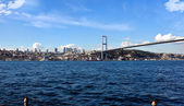 Tourism and financial center in istanbul landscape on a sunny day — Stock Photo