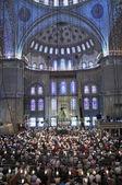 Błękitny Meczet rytuał kultu w modlitwa, istanbul, Turek — Zdjęcie stockowe