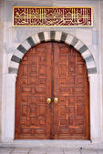 Conqueror of the Sultan mosque entrance door — Stock Photo