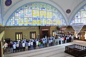 Istoc mosque ritual of worship centered in prayer, Istanbul, Tur — Stock Photo
