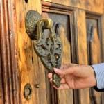 Brass gate with door knocker istanbul Turkey — Stock Photo #45152985