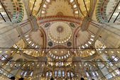 Fatih Mosque photo inside the dome — Stock Photo
