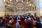 Muslims pray in the mosque Fatih — Stock Photo