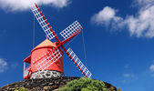 Traditional windmill near Feteira Piso Island, Azores — Stock Photo