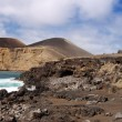 Coastline near Capelinhos, Faial Azores - Stock Photo