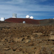 Stock Photo: Observatories at MaunKe(MKO) - Big Island, Hawaii