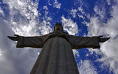 Cristo-rei, christ-Roi statue à Lisbonne — Photo