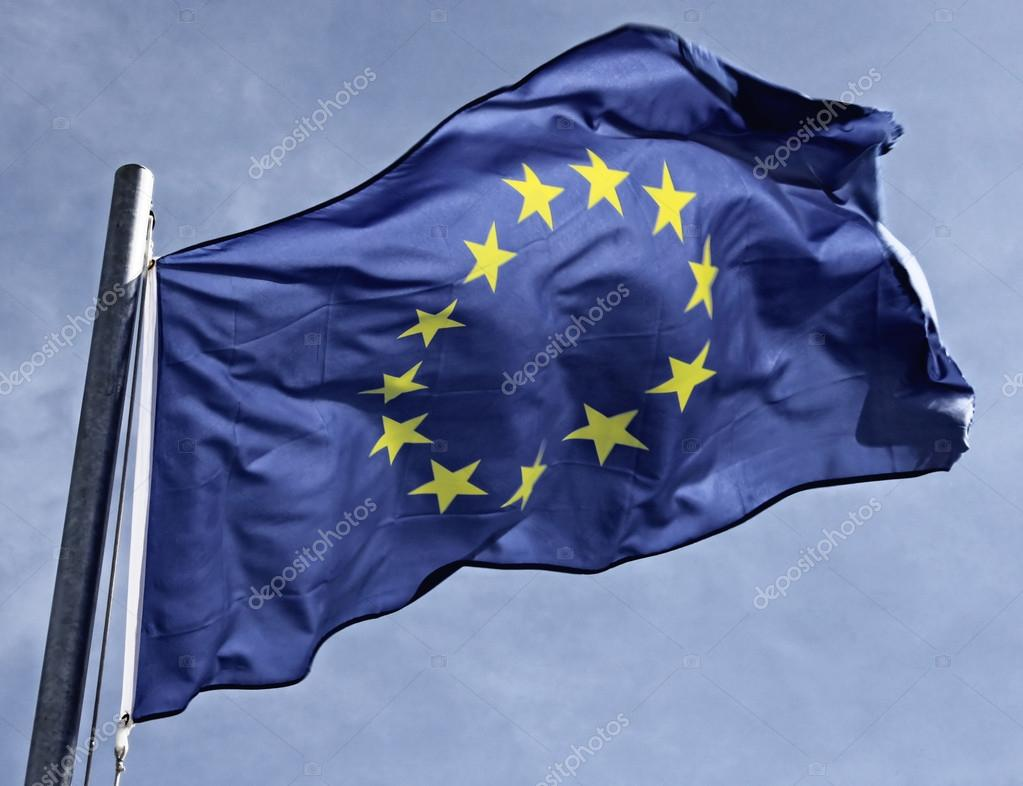 Flag of the european community in the sun — Stock Photo #18415337