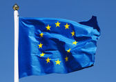 Flag of the European Union in the sun — Stock Photo