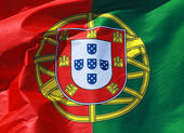 Close-up of a national flag of Portugal — Stock Photo