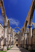 The ruins of the Carmo Church, Lisbon Portugal — Stock fotografie