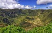 Vulkanische caldeira van faial, azoren — Stockfoto