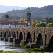 Old medevial bridge of Ponte de Lima — Stock Photo