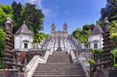 Stairway to the church of Bom Jesus do Monte in Braga, Portugal — Stock fotografie