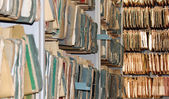 Dokument i ett arkiv som bakgrund — Stockfoto