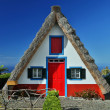 Traditional cottage in Santana  (Madeira, Portugal) — Stock Photo