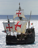 "Medieval vessel ""Santa Maria"" near Cabo Girao (Madeira) — Stock Photo"