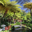 Stock Photo: Tropical Garden Monte Palace Madeira, Portugal