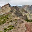 Hiking Trail near Pico do Arieiro, Madeira, Portugal - Panorama 02 — Stock Photo