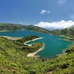 Lagoon of Fire, Azores - Panorama — Stock Photo