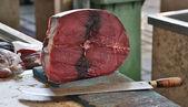 Fresh Tuna steak at market — Stock Photo
