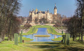 Castle Schwerin in spring time, Germany — Stock Photo