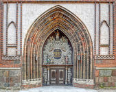 Entrance to the Cathedral St. Nikolai in Stralsund — Stock Photo