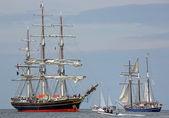 Old sailing ships at Hansesail 2014 (04) — Stock Photo