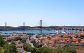 Lisbon, Portugal, 25th of April Bridge — Stock Photo