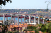 Lisbon, Portugal, 25th of April Bridge panorama — Stockfoto