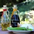 Balsamico vinegar and olive oil - Stock Photo