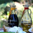 Balsamico vinegar and olive oil — Stock Photo