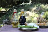 Balsamico vinegar and olive oil — Stock Photo